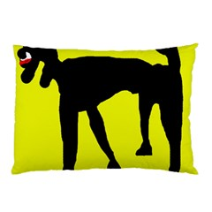 Black dog Pillow Case (Two Sides)