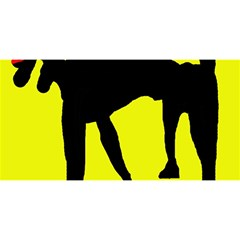Black dog YOU ARE INVITED 3D Greeting Card (8x4)