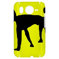 Black dog HTC Desire HD Hardshell Case