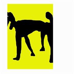 Black dog Large Garden Flag (Two Sides)