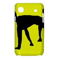 Black dog Samsung Galaxy SL i9003 Hardshell Case