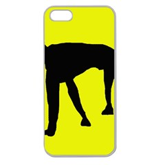 Black dog Apple Seamless iPhone 5 Case (Clear)
