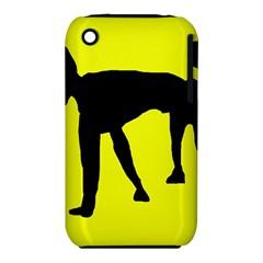 Black dog Apple iPhone 3G/3GS Hardshell Case (PC+Silicone)