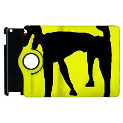 Black dog Apple iPad 2 Flip 360 Case