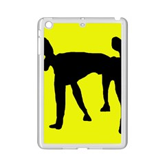 Black dog iPad Mini 2 Enamel Coated Cases