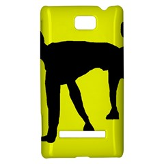Black dog HTC 8S Hardshell Case