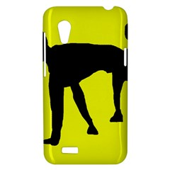 Black dog HTC Desire VT (T328T) Hardshell Case