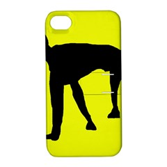 Black dog Apple iPhone 4/4S Hardshell Case with Stand