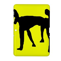 Black dog Samsung Galaxy Tab 2 (10.1 ) P5100 Hardshell Case