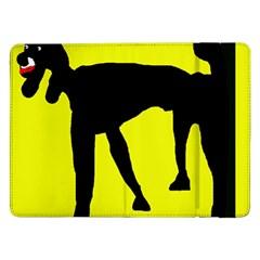 Black dog Samsung Galaxy Tab Pro 12.2  Flip Case