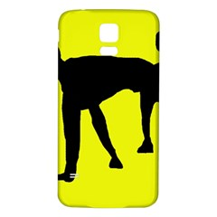 Black dog Samsung Galaxy S5 Back Case (White)