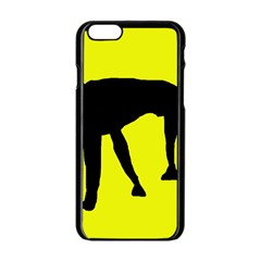 Black dog Apple iPhone 6/6S Black Enamel Case