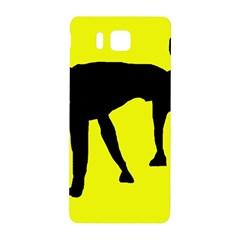 Black dog Samsung Galaxy Alpha Hardshell Back Case