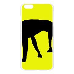Black dog Apple Seamless iPhone 6 Plus/6S Plus Case (Transparent)