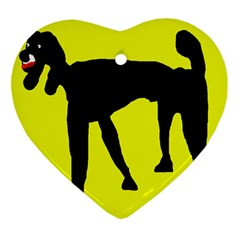 Black dog Ornament (Heart)
