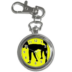 Black dog Key Chain Watches
