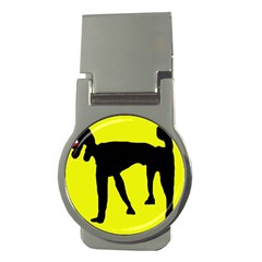 Black dog Money Clips (Round)