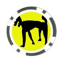Black dog Poker Chip Card Guards