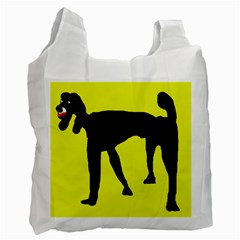 Black dog Recycle Bag (Two Side)