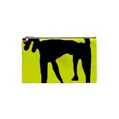 Black dog Cosmetic Bag (Small)