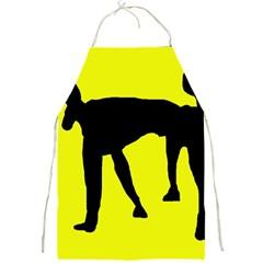 Black dog Full Print Aprons
