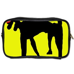 Black dog Toiletries Bags