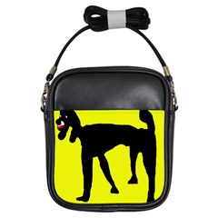 Black dog Girls Sling Bags