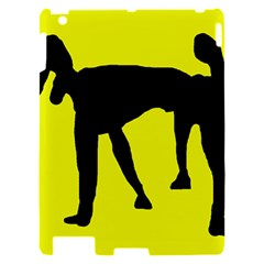 Black dog Apple iPad 2 Hardshell Case