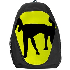 Black dog Backpack Bag