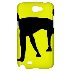 Black dog Samsung Galaxy Note 2 Hardshell Case