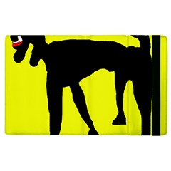 Black dog Apple iPad 2 Flip Case
