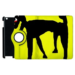Black dog Apple iPad 3/4 Flip 360 Case