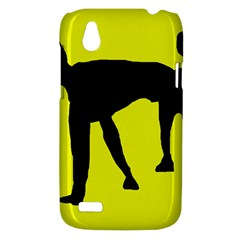 Black dog HTC Desire V (T328W) Hardshell Case