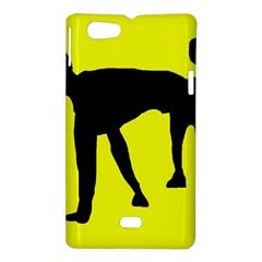 Black dog Sony Xperia Miro