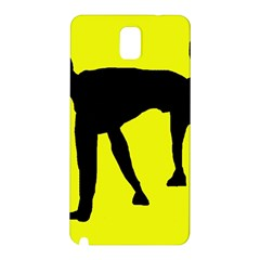 Black dog Samsung Galaxy Note 3 N9005 Hardshell Back Case