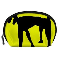 Black dog Accessory Pouches (Large)