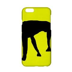 Black dog Apple iPhone 6/6S Hardshell Case