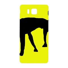 Black dog Samsung Galaxy Alpha Hardshell Back Case