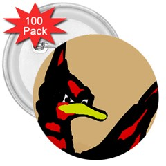 Angry Bird 3  Buttons (100 pack)
