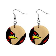 Angry Bird Mini Button Earrings