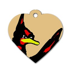 Angry Bird Dog Tag Heart (One Side)