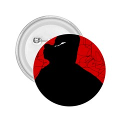 Red and black abstract design 2.25  Buttons