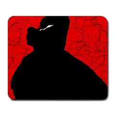 Red and black abstract design Large Mousepads