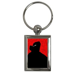 Red and black abstract design Key Chains (Rectangle)