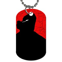 Red and black abstract design Dog Tag (One Side)
