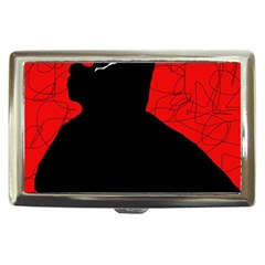 Red and black abstract design Cigarette Money Cases