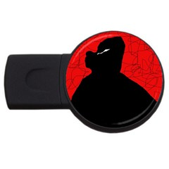 Red and black abstract design USB Flash Drive Round (2 GB)