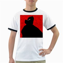 Red and black abstract design Ringer T-Shirts