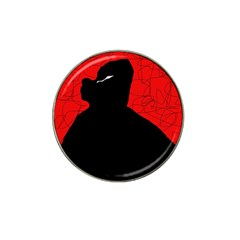 Red and black abstract design Hat Clip Ball Marker