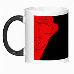 Red and black abstract design Morph Mugs